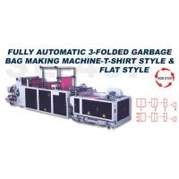 Fully Automatic 3-folded Garbage Bag Making Maching-T-shirt Style & Flat Style