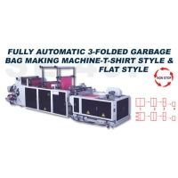 Fully Automatic 3-folded Garbage Bag Making Maching-T-shirt Style & Flat Style