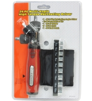 24pc 3WAY RATCHET SCREWDRIVER SET   3-way Ratchet Screwdriver with Square Handle