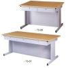 OA Table With Woodgrain Veneer Tabletop