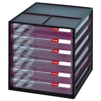 A4 Vertical Stationery Stackable Desktop and File Organizer with 6 Drawers