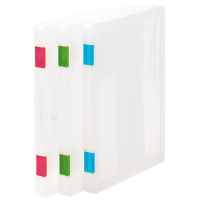 A4 Carry File Box with 3 Colors for Choices and Label for Easy Recognition