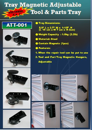 Tray Magnetic Adjustable Tool & Parts Tray