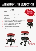 Adjustable Tray Creeper Seat