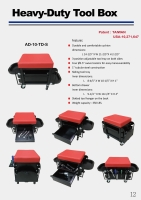 Heavy-Duty Tool Box Creeper Seat