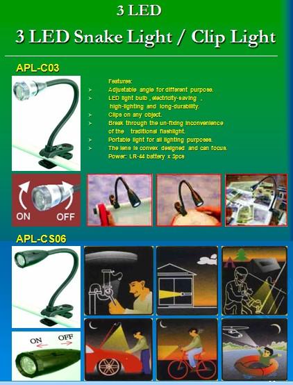 3-LED Clip Light