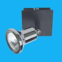 351 Ceiling Mounted Spot Lamp with Black Base and Single Lamp Holder