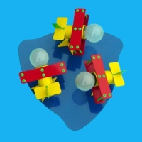 FJ Children Ceiling Mounted Spot Lamp with Three Lamp Holders