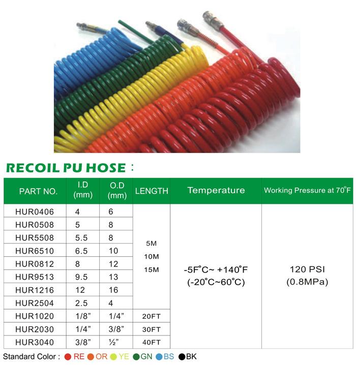 PU卷管/伸缩管 / PU空气管