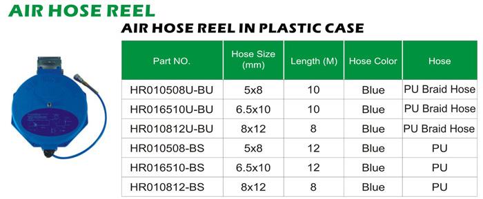 Air Hose-air Hose Reel In Plastic Case