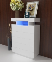 CABINET WITH 6 DRAWERS W/LED