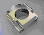 Universal bar mount, CNC machined
