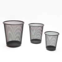 Wire-mesh Office Wastepaper Basket- round