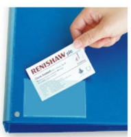 Self-adhesive business card pockets