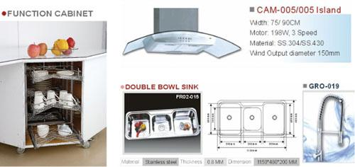 Kitchenware (Sink, Cook Hood, Wire Baskets…)