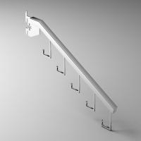 挂片式5勾方管挂杆