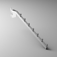 掛片式7珠方管掛桿
