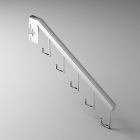 掛片式5勾方管掛桿