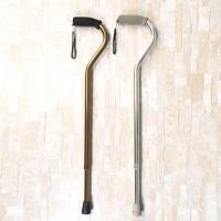 Polished gooseneck-bend cane
