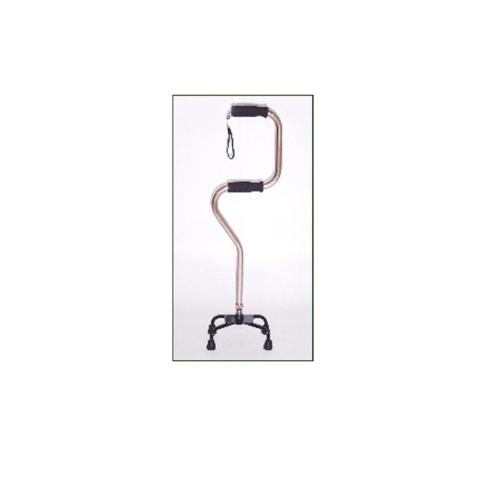 Duo-bend bronze-colored quad cane (large base)