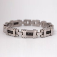 Titanium Cable Link Bracelet