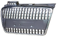 Car Grille for Audi A4-CHROME+BLACK PAINTING