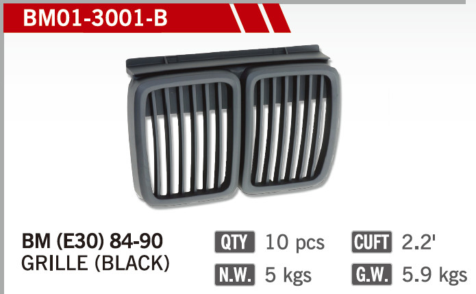 GRILLES FOR BM E30 84-90