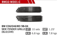 Cens.com SIDE FENDER GRILLES FOR BM E36/E46(M3) 98-04 YUAN RONG AUTO PARTS CO., LTD.