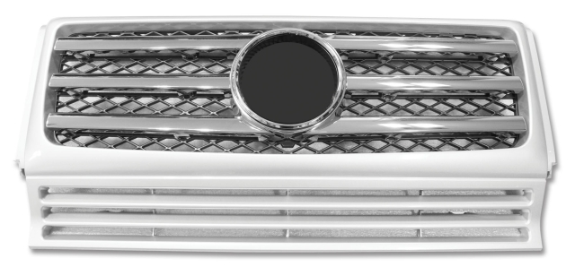 GRILLE FOR BZ G55(SILVER/CHROMED THREE MOULDING/W/MK)(CL-TYPE)