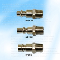 Three Way Style Coupler Fitting Plug, Male