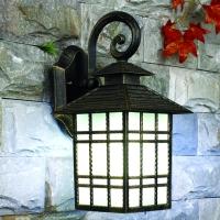 Aluminium with glass diffuser wall lamp