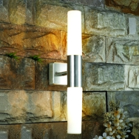 stainless steel with glass diffuser wall lamp