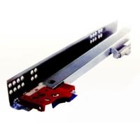 Concealed three-fold buffer drawer slides