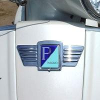 Chrome-plated Decorative Wings for Vespa Piaggio Logos