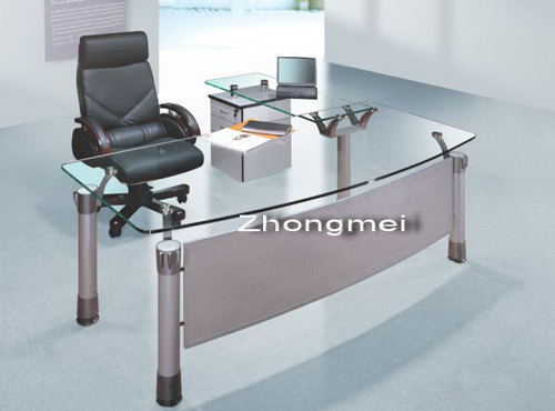 office desk, boss desk, executive desk, glass desk
