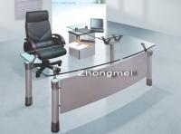office desk, boss desk, executive desk, glass desk