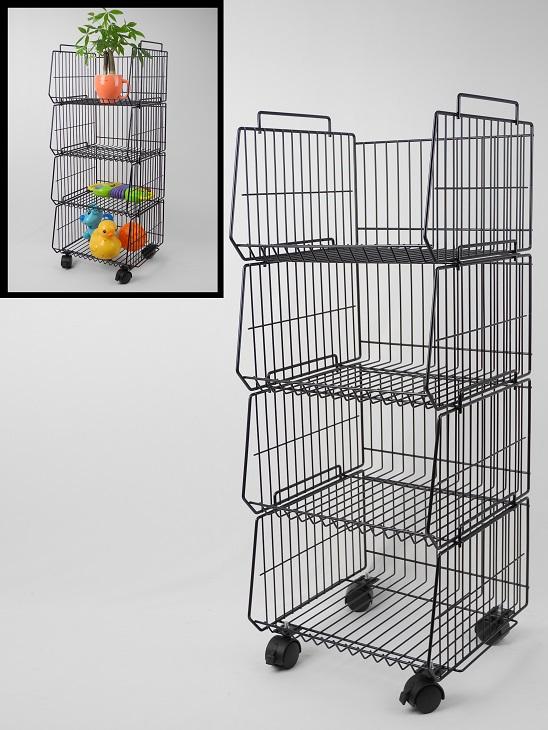 Stackable storage rack