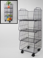 Stackable storage rack