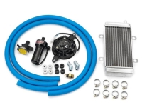 Over size radiator+ fan+ thermostat + hose water