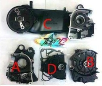 GY6, Long Engine case Black