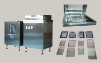 Tray type bottle washing machine