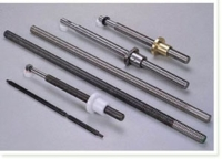 Thread-rolled screws and chrome-plated shafts