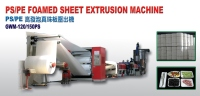 PS / PE Foamed Sheet Extrusion Machine