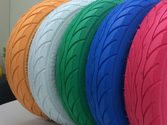 Colorful tires