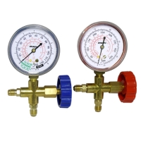 Single gauge valve
