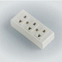 Socket Heat - Resistant, 3 Place Duplex Socket