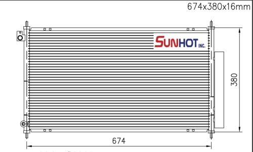 Honda TSX - CHD036 - 散热片