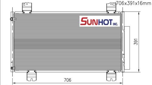 Honda SUBCOOL - CHD055 - 散热片