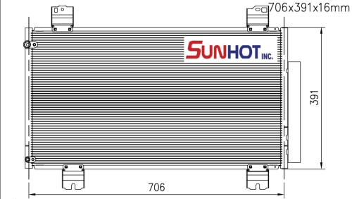 Honda SUBCOOL - CHD055 - 散熱片