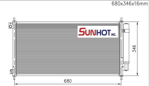 Honda ACCORD - CHD058 - 散熱片